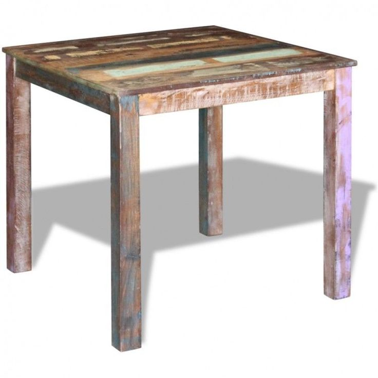 Modern Home Dining Table Square Furniture Kitchen Reclaimed Wood Vintage Style #ModernHomeDiningTable