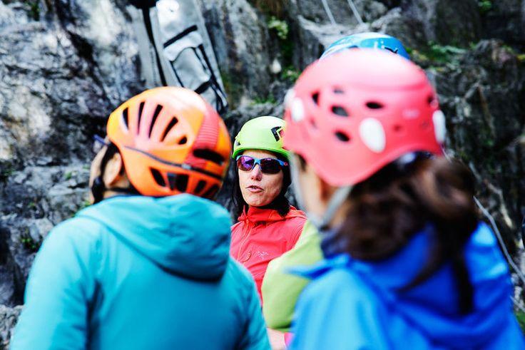 Arc'teryx Alpine Academy in Chamonix. Big Wall Clinic with Ines Papert.