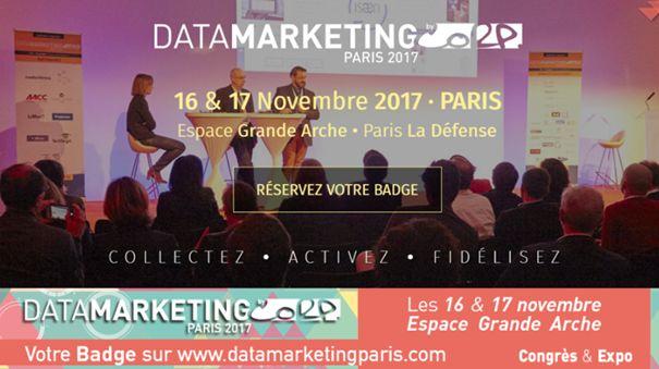 Les 16 et 17 novembre 2017 à l'espace Grande Arche Paris La Défense aura lieu le salon Data Marketing. 2 jours très enrichissants grâce à des retours d'expériences de grandes marques. Découvrez le programme : https://www.webmarketing-com.com/2017/10/02/62731-rendez-salon-data-marketing-16-17-novembre-2017