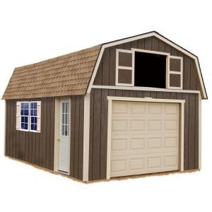 Best Barns Tahoe 12 Ft X 16 Ft Wood Garage Kit Without