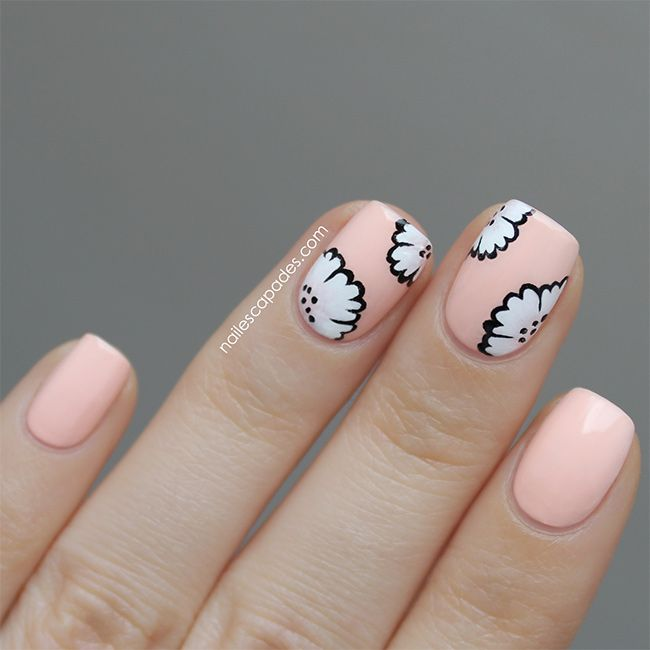 Bring on May Flowers with 13 DIY Flower Nail Tutorials | http://hellonatural.co/13-flower-nail-tutorials/