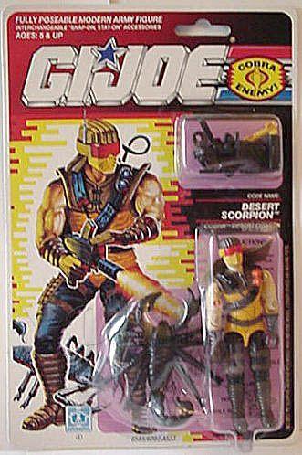 Desert Scorpion (v1) G.I. Joe Action Figure - YoJoe Archive