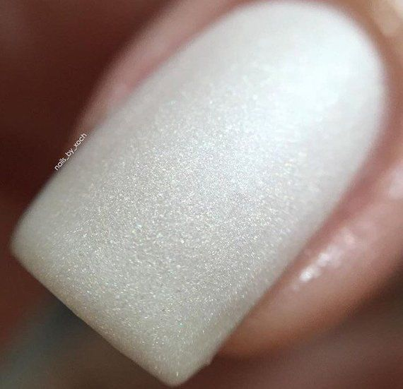 Love Hurts – matte nail polish – matte white – 5 free – handmade – indie nail po…