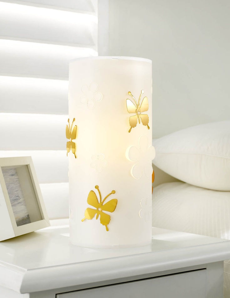 Cylinder Butterfly Table Lamp by Rouge Living from Harvey Norman New Zealand