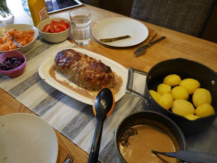 Köttfärslimpa i Crock-Pot, recept köttfärslimpa i Crock-pot, recept husmanskost i Crock-Pot, Crock-Pot, recept köttfärslimpa, recept nyttig brunsås