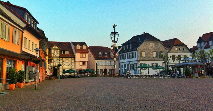 Sunset in Dieburg, Germany  - http://earth66.com/village/sunset-dieburg-germany/