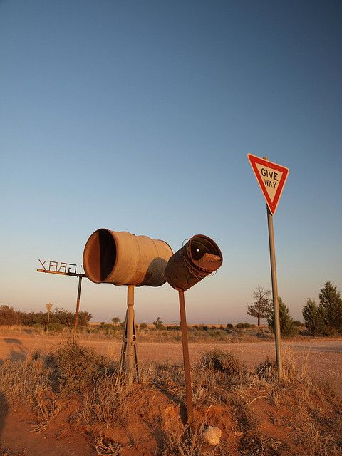 Mailboxes by Shovelling Son, via Flickr Outback Australia