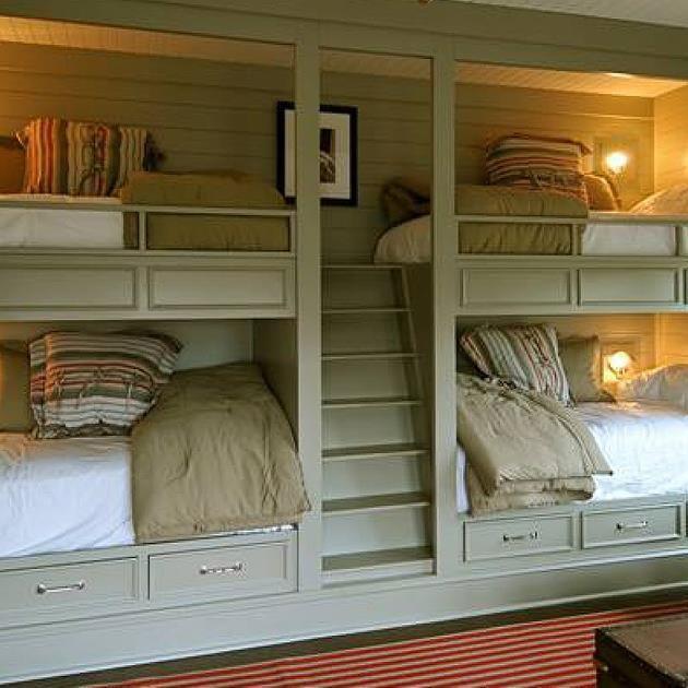 Самые практичные и стильные двухъярусные кровати для детей и взрослых., которые экономят и организуют драгоценное пространство.