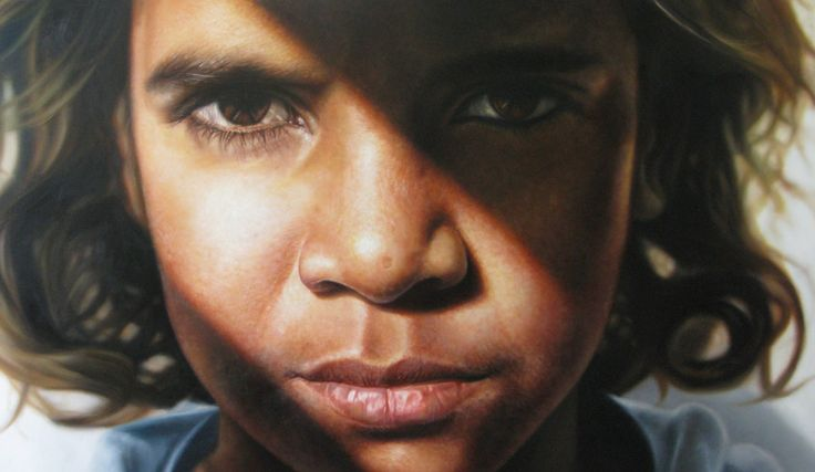 Brandon Walters ( movie Australia) painted by Australian artist Vincent Fantauzzo. Winner of Peoples Choice Award Archibald Portrait 2009