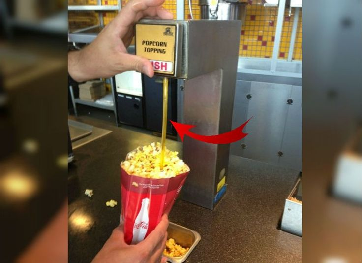 If you are tired of overly buttery popcorn on top, and dry popcorn on the bottom, use a straw to send butter to the bottom of the bag!