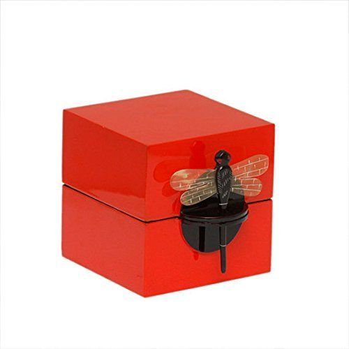 Jewelry box, ring box, dragon fly lock Art & Home