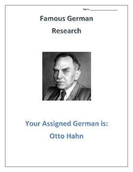 Otto Hahn:  Famous GERMANS- Scientists, Doctors and Social Sciences