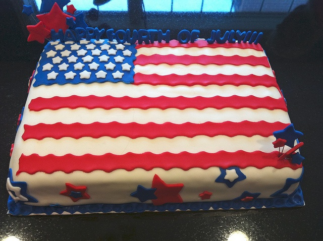 Fourth of July cake - now I just need to master the fondant