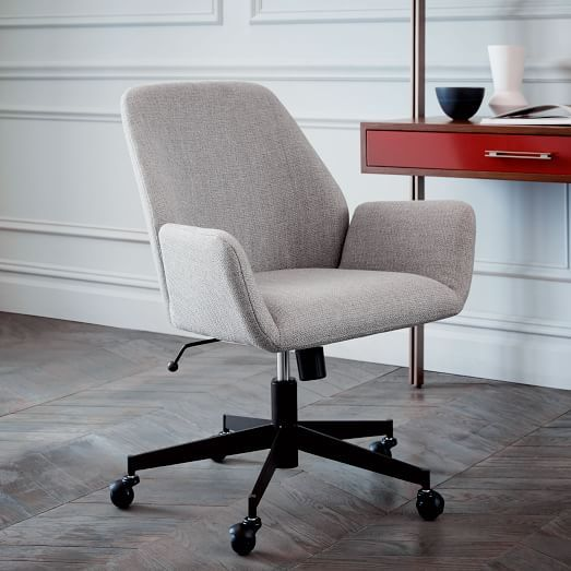 Aluna Upholstered Office Chair  http://www.westelm.com/m/products/aluna-upholstered-office-chair-h2461/?pkey=e%7Cdesk%2Bchair%7C75%7Cbest%7C0%7C1%7C15%7C%7C5&cm_src=PRODUCTSEARCH
