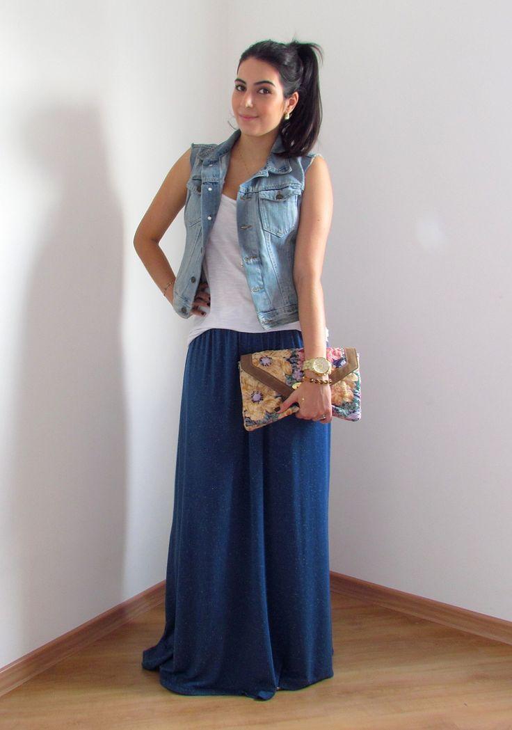 School maxi skirt casual