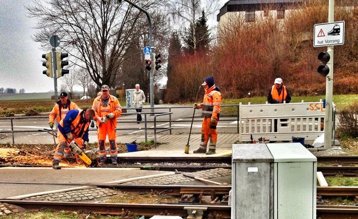 Working on the Stadtbahn Stuttgart...