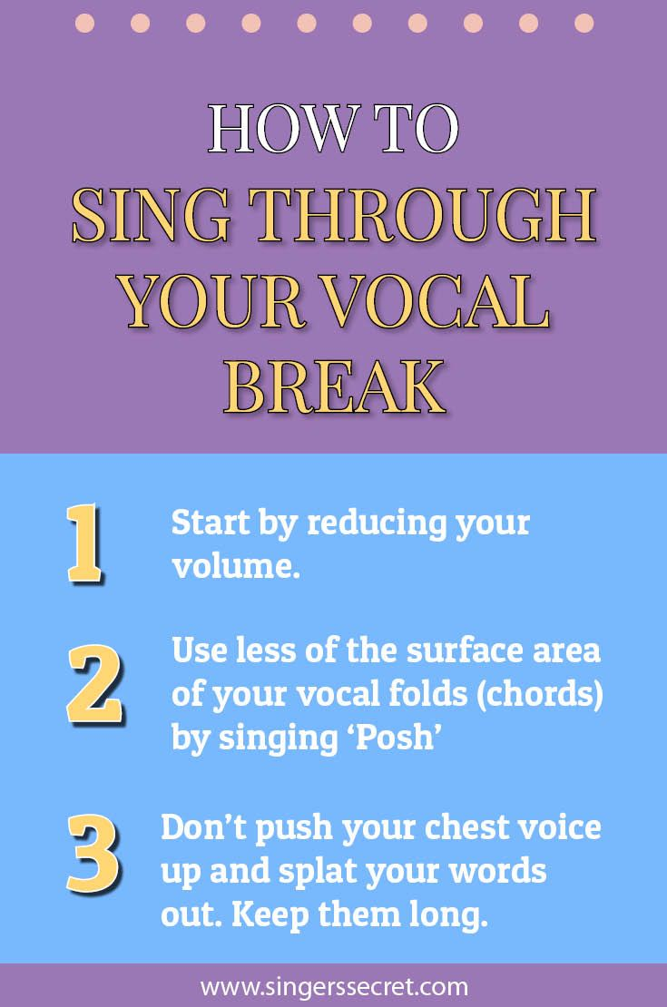 Sing through your vocal break with these three tips. More free singing training: www.singerssecret.com #singing #tips #howtosing