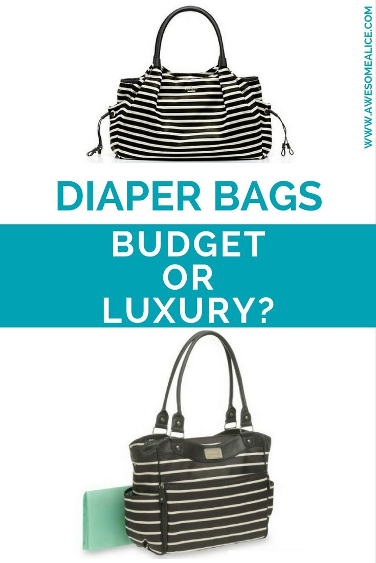 One diaper bag costs $398.00 and the other one $34.95. Can you guess which is which and which would you choose? Would you go for the expensive, perhaps more