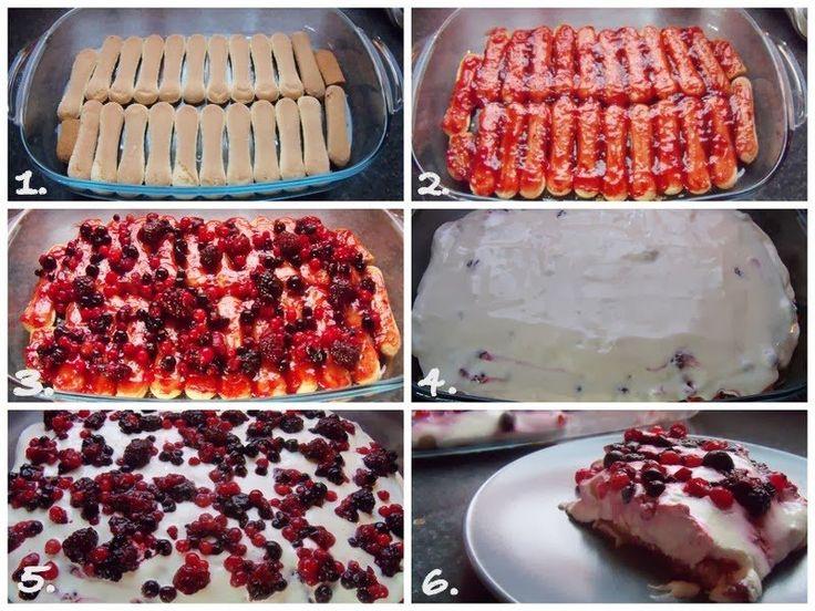 Tejfölös Mascarponekrémes Gyümölcsös – Sütés nélkül | Betty hobbi konyhája
