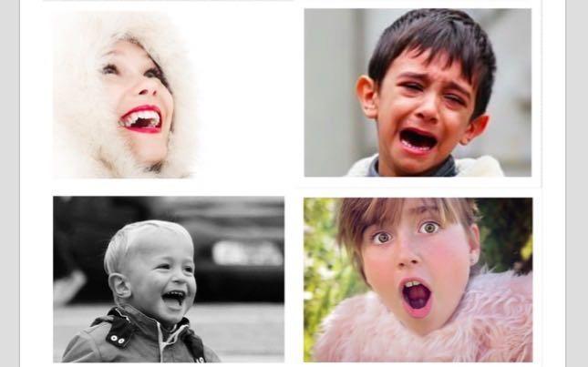 20 tarjetas de fotos reales para trabajar las emociones