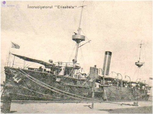 The Romanian protected cruiser Elisabeta in WWI.