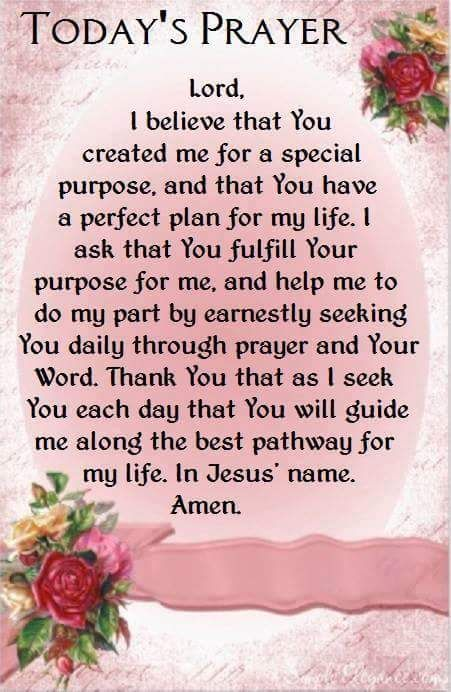 Prayer for today. Prayers