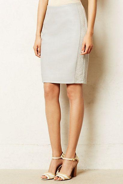 Gray White Loti Pencil Skirt @ Anthropologie $70 LOVE