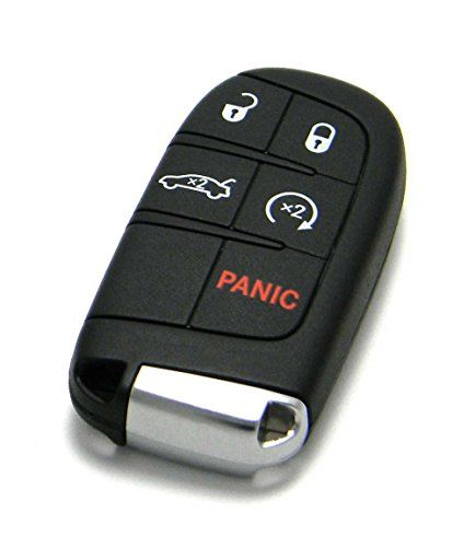 OEM Dodge Keyless Entry Remote Fob 5-Button Smart Proximity Key (FCC ID: M3N-40821302 / P/N: 05026676). For product info go to:  https://www.caraccessoriesonlinemarket.com/oem-dodge-keyless-entry-remote-fob-5-button-smart-proximity-key-fcc-id-m3n-40821302-pn-05026676/