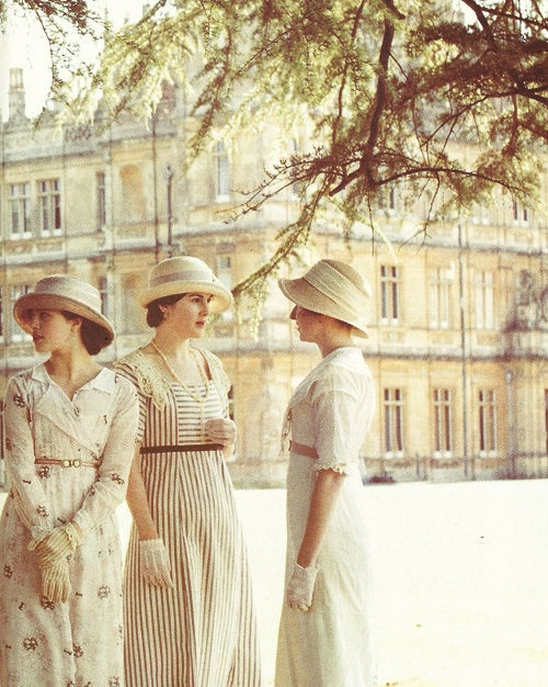 Ladies Sybil, Edith & Mary Crawford at Downton Abbey