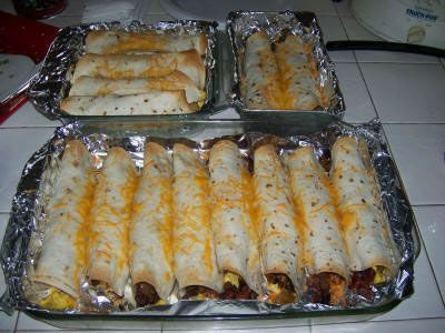 Breakfast Burritos.    Freeze and reheat very well! {clean eating}.