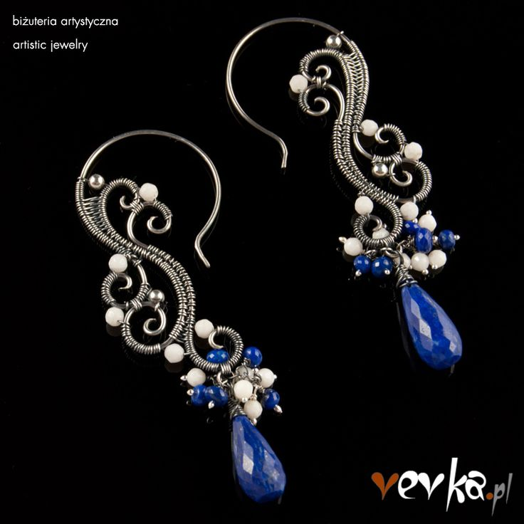Materials: coral, lapis lazuli, fine and sterling silver.