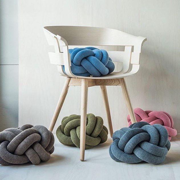 #WickChair and #KnotCushion portrayed by @designforevig ✨  Design by Jesper Ståhl @jesperstahl Karl Malmvall @karlwithkaa and Ragnheiður Ösp Sigurðardóttir @designbyumemi for #DesignHouseStockholm