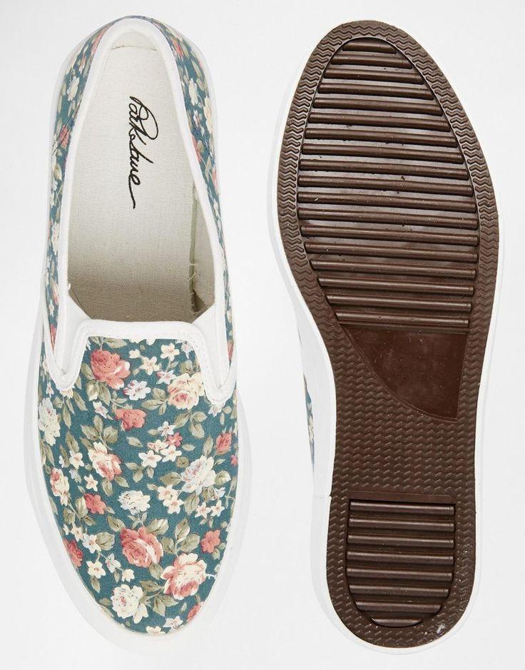 Immagine 3 di Park Lane - Scarpe da ginnastica flatform di tela a fiorellini senza lacci