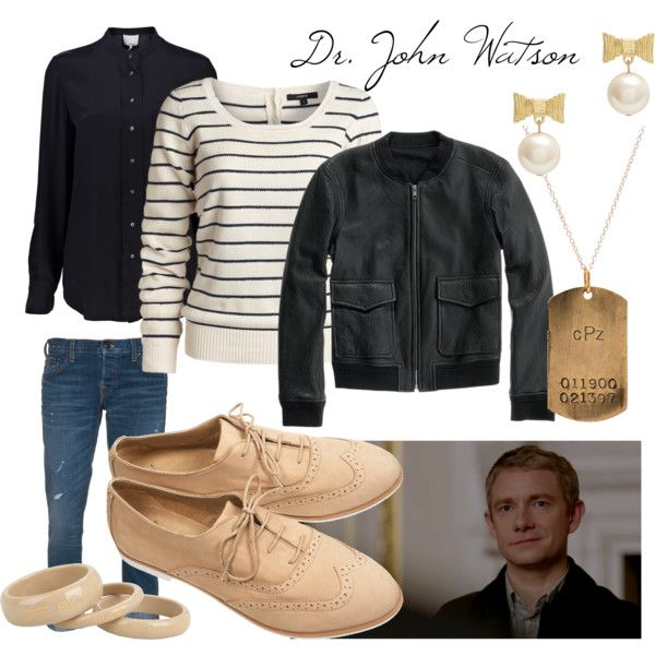 BBC Sherlock John Watson Cosplay inspired outfit Polyvore by gabby-nicholas image