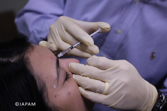 Physician Botox Training @ a recent Symposium http://www.aestheticmedicinesymposium.com/botoxtraining