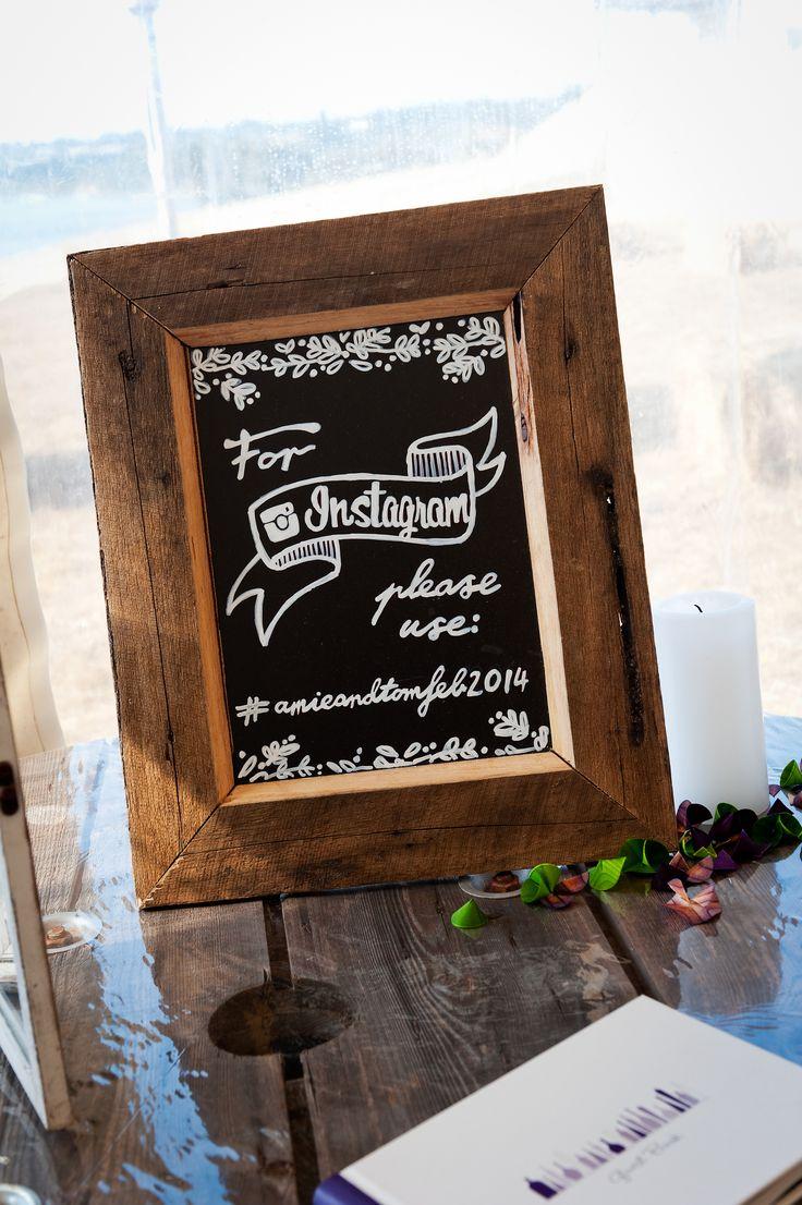 Instragram wedding tag. Rustic wedding.