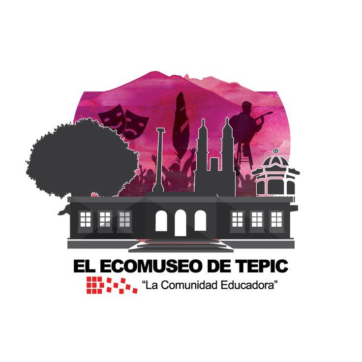 Logo del Ecomuseo de Tepic, la Comunidad Educadora, proyecto ciudadano que inició en agosto de 2016.