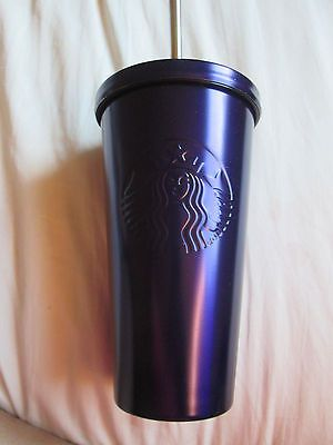NEW Starbucks Purple Color Stainless Steel Cold Cup 16 Oz 2016