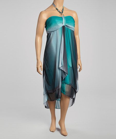 Seafoam & Black Strapless Dress - Women & Plus I NEED THIS DRESS!!!!