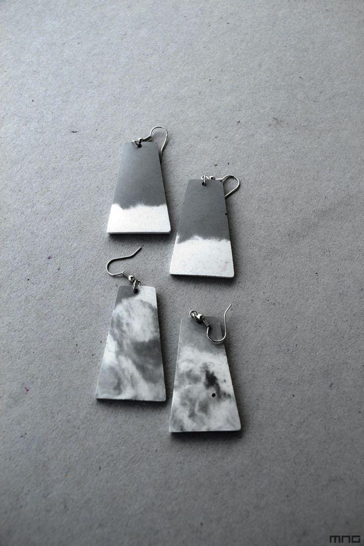 concrete earring