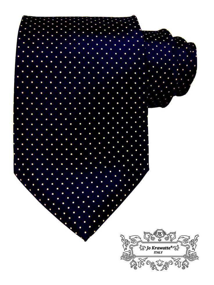 Klein gepunktete Krawatte Seidenkrawatte italienische Mode Petit Point blau in Kleidung & Accessoires, Vintage-Mode, Vintage-Accessoires | eBay