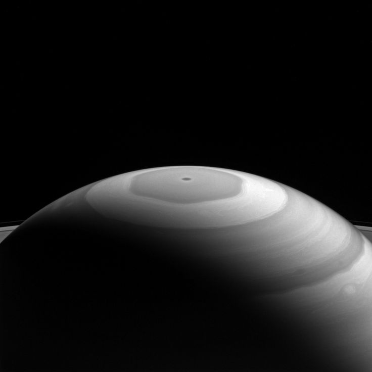 NASA's Cassini spacecraft captured Saturn's north polar region displaying its beautiful bands and swirls. Where they meet and flow past each other, the bands' interactions produce many eddies and swirls. Image credit: NASA/JPL-Caltech/Space Science Institute