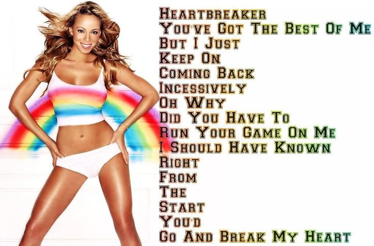 Mariah Careys Heartbreaker love this song!! This was one of my favorite times of her - The Heartbreaker/Rainbow time