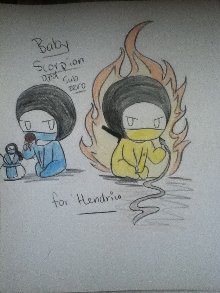 Baby scorpion and sub zero by ezioauditore115 on DeviantArt