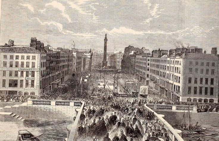Laying of the foundation stone for the O'Connell Monument, O'Connell Street. 1864 Permalien de l'image intégrée