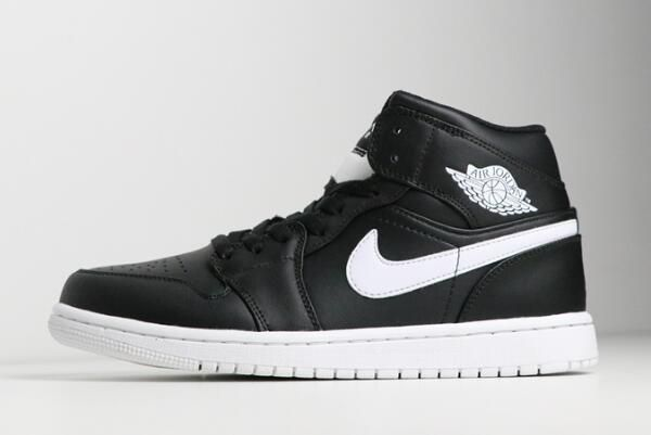 online retailer 124e3 d1f63 Buy Air Jordan 1 Retro Mid Black White 554724-038 Mens Shoes Sneakers