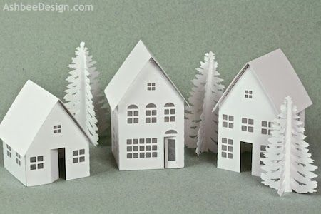 Ashbee Design Silhouette Projects: Tea Light Village Tutorial