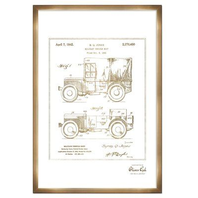 Trent Austin Design 'Jeep Willys 1942' Framed Graphic Art Print  Frame Color: Bronze