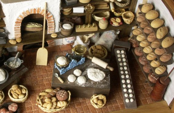Vintage Bakehouse in a Bread Box by DinkyWorld on Etsy, €999.00