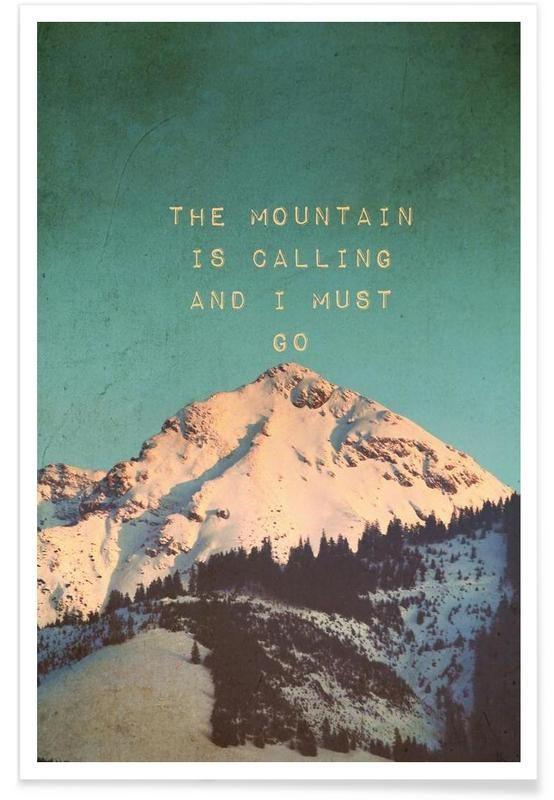 Mountain is calling als Premium Poster von Monika Strigel | JUNIQE